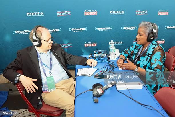 Jonathan Alter interviews Donna Brazile on SiriusXM on July 27 2016 in Philadelphia Pennsylvania