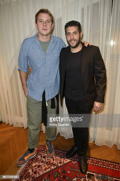 Jonathan Anderson and Marc Lotenberg attend the Surface Magazine Fall Fashion Issue 2017 Presentation on October 16 2017 in Paris France