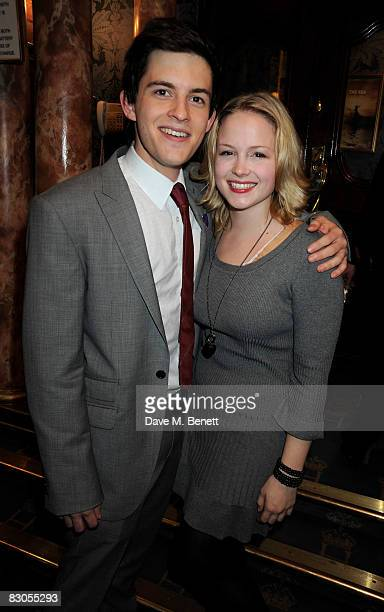 Jonathan Bailey and Kimberly Nixon attend the press night of 'Girl With A Pearl Earring' at the Theatre Royal Haymarket on September 29 2008 in...