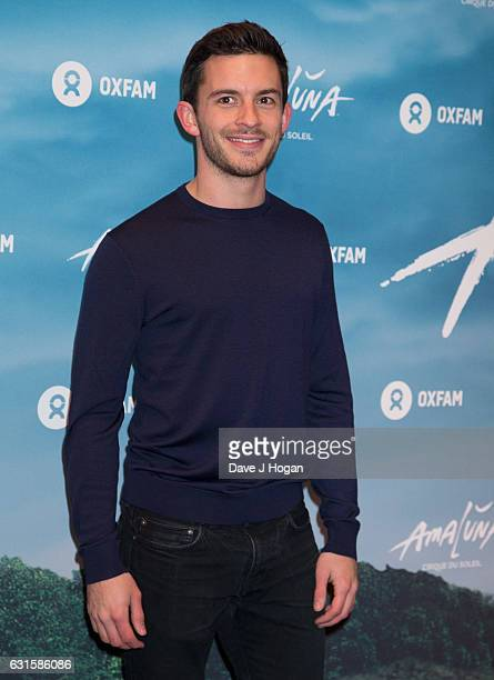Jonathan Bailey attends the blue carpet of the Cirque du Soleil Amaluna press night on January 12 2017 in London United Kingdom