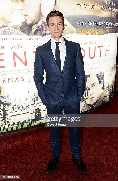 Jonathan Bailey attends the Testament Of Youth UK Premiere at Empire Leicester Square on January 5 2015 in London England