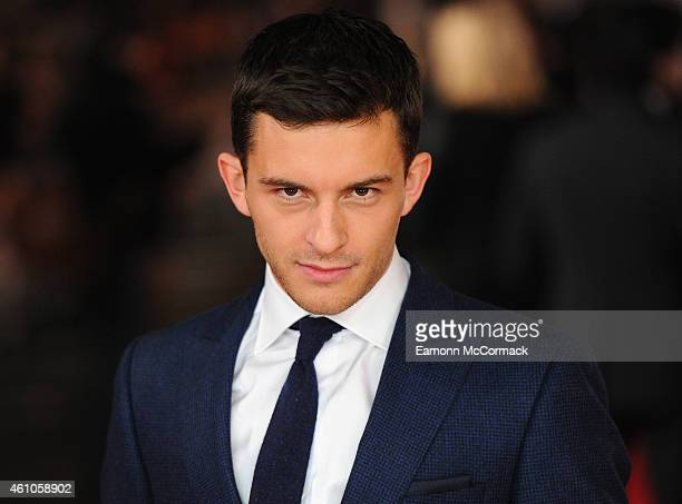 Jonathan Bailey attends the UK Premiere of 'Testament of Youth' at Empire Leicester Square on January 5 2015 in London England