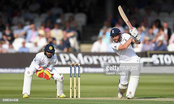Jonathan Bairstow of England bats during day one of the 3rd Investec Test match between England and Sri Lanka at Lord's Cricket Ground on June 9 2016...