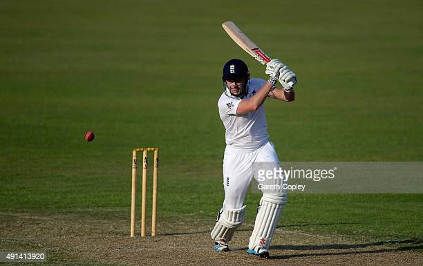 Jonathan Bairstow of England bats during day one of the tour match between Pakistan A and England at Sharjah Cricket Stadium on October 5 2015 in...