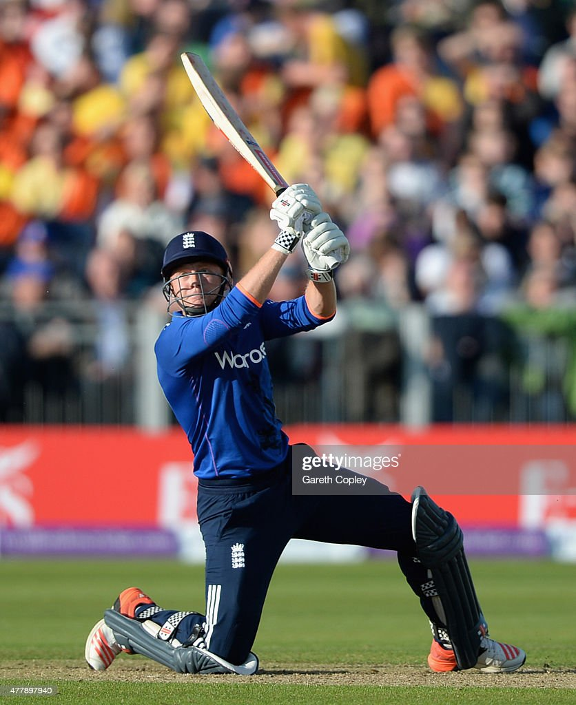 Jonathan Bairstow of England bats during the 5th ODI Royal London OneDay match between England and New Zealand at Emirates Durham ICG on June 20 2015...