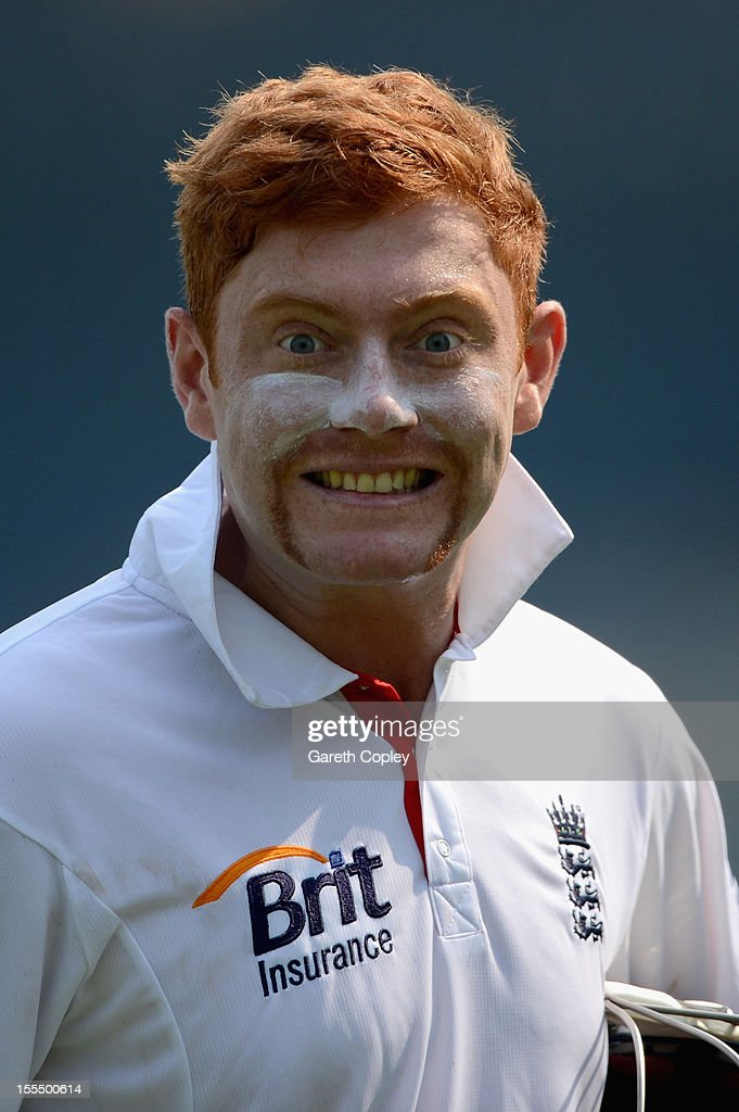 <a gi-track='captionPersonalityLinkClicked' href=/galleries/search?phrase=Jonathan+Bairstow&family=editorial&specificpeople=6893210 ng-click='$event.stopPropagation()'>Jonathan Bairstow</a> of England during day three of the tour match between Mumbai A and England at The Dr D.Y. Palit Sports Stadium on November 5, 2012 in Mumbai, India.