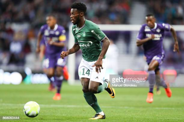 Jonathan Bamba of Saint Etienne during the Ligue 1 match between Toulouse and AS SaintEtienne at Stadium Municipal on October 29 2017 in Toulouse
