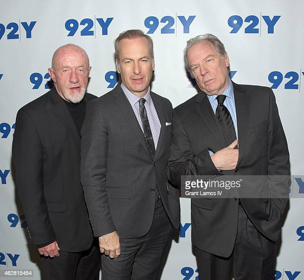 Jonathan Banks Bob Odenkirk and Michael McKean attend 'Better Call Saul' Conversation with Cynthia Littleton at the 92nd Street Y on February 5 2015...