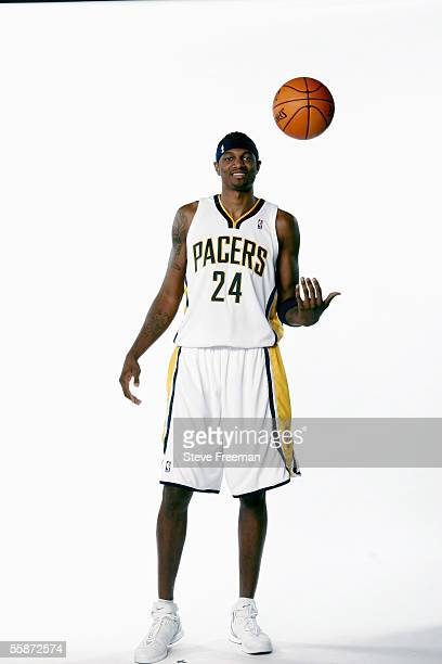 Jonathan Bender of the Indiana Pacers poses for a portrait during the Pacers Media Day on October 3 2005 at Conseco Fieldhouse in Indianapolis...