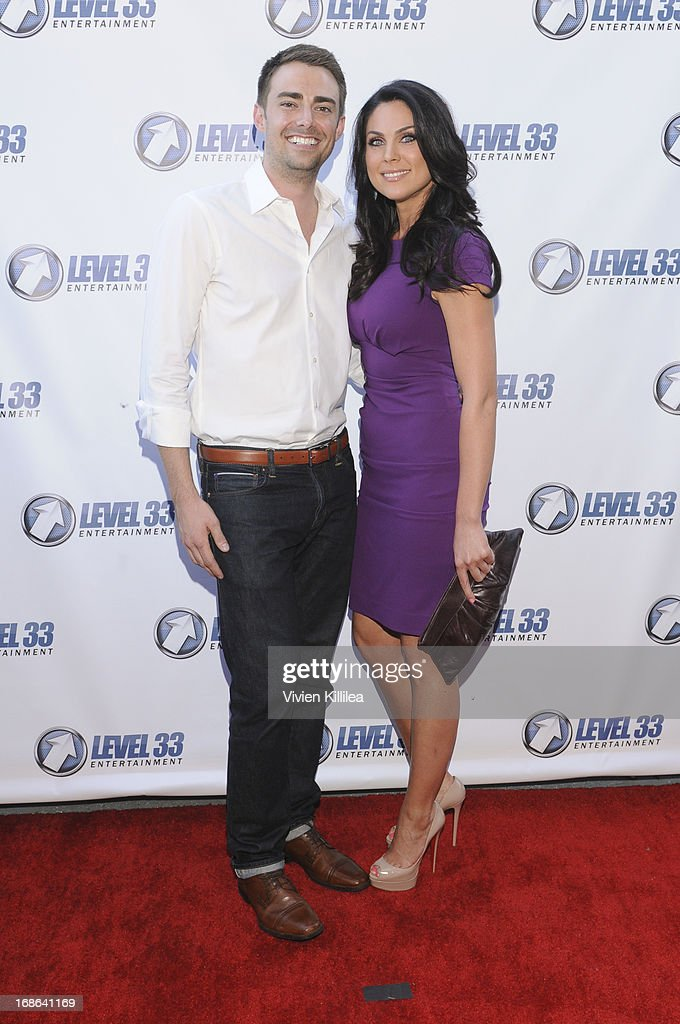 Jonathan Bennett and Nadia Bjorlin attend 'Divorce Invitation' - Los Angeles Premiere at Arena Cinema Hollywood on May 12, 2013 in Hollywood, California.
