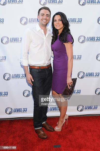 Jonathan Bennett and Nadia Bjorlin attend 'Divorce Invitation' Los Angeles Premiere at Arena Cinema Hollywood on May 12 2013 in Hollywood California
