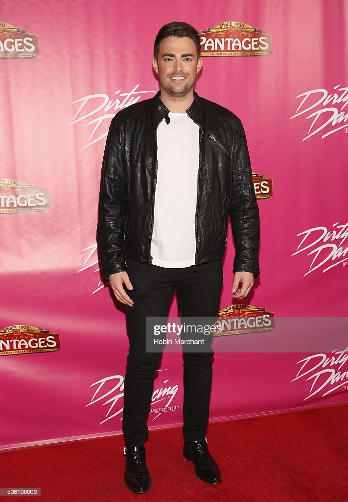 <a gi-track='captionPersonalityLinkClicked' href=/galleries/search?phrase=Jonathan+Bennett&family=editorial&specificpeople=233425 ng-click='$event.stopPropagation()'>Jonathan Bennett</a> attends Opening Night Of 'Dirty Dancing The Classic Story On Stage' at the Pantages Theatre on February 2, 2016 in Hollywood, California.