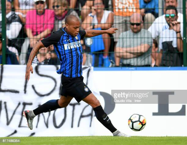 Jonathan Biabiany of FC Internazionale in action during the PreSeason Friendly match between FC Internazionale and Nurnberg on July 15 2017 in...