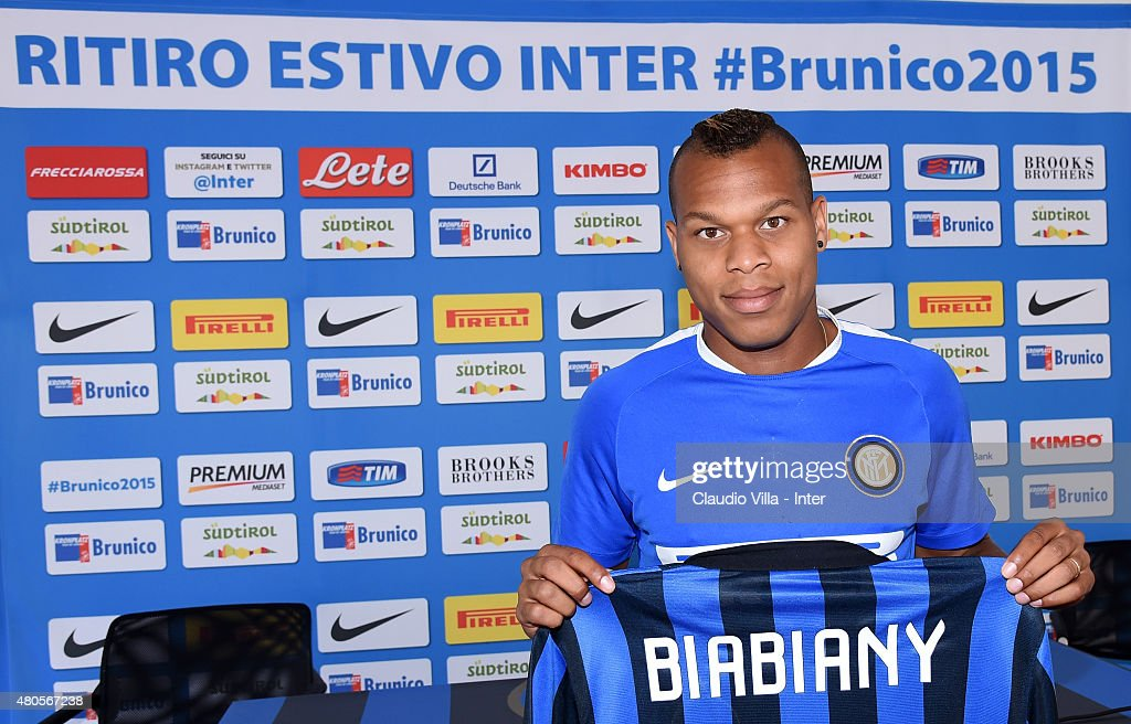 <a gi-track='captionPersonalityLinkClicked' href=/galleries/search?phrase=Jonathan+Biabiany&family=editorial&specificpeople=5973634 ng-click='$event.stopPropagation()'>Jonathan Biabiany</a> poses for a photo during a press conference at Riscone di Brunico on July 13, 2015 in Bruneck, Italy.