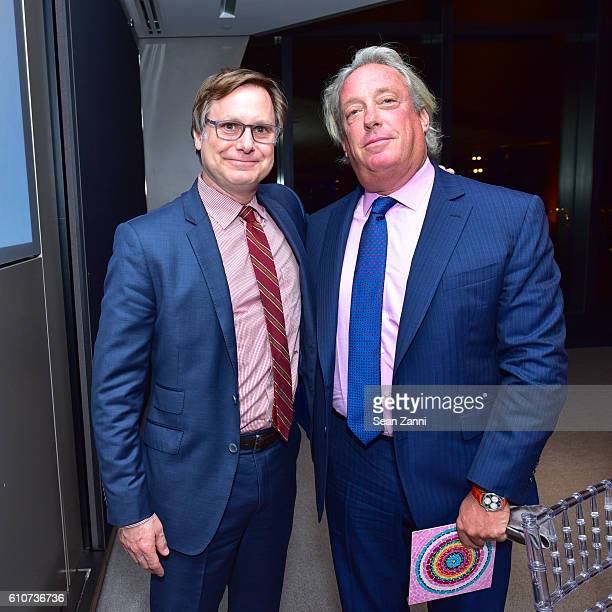 Jonathan Binstock and Anthony Meier attend Abstracted Black Tie Dinner Hosted by Pamela Joyner Fred Giuffrida and the Ogden Museum of Southern Art to...