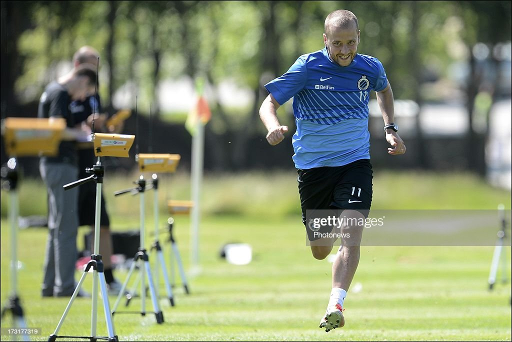 <a gi-track='captionPersonalityLinkClicked' href=/galleries/search?phrase=Jonathan+Blondel&family=editorial&specificpeople=2180016 ng-click='$event.stopPropagation()'>Jonathan Blondel</a> of Club Brugge KV in action during the second day of a Club Brugge summer camp training session on July 9, 2013 in Manchester, England.