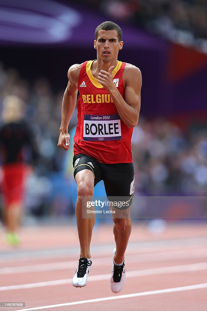Jonathan Borlee of Belgium competes in the Men's 400m Round 1 Heats on Day 8 of the London 2012 Olympic Games at Olympic Stadium on August 4, 2012 in London, England.