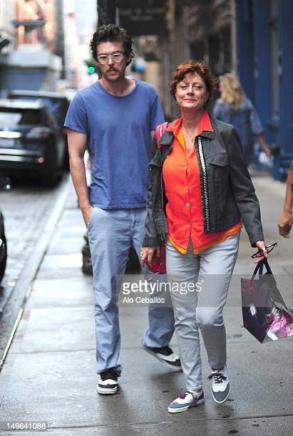 Jonathan Bricklin and Susan Sarandon are seen in soho at Streets of Manhattan on July 29 2012 in New York City