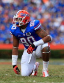 Jonathan Bullard of the Florida Gators during the game against the Jacksonville State Gamecocks at Ben Hill Griffin Stadium on November 17 2012 in...