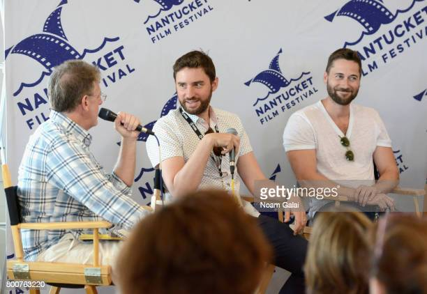 Jonathan Burkhart Jared Moshe and Ryan Eggold attend 'Morning Coffee' during the 2017 Nantucket Film Festival Day 5 on June 25 2017 in Nantucket...