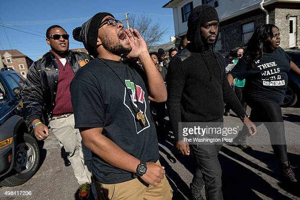 Jonathan Butler one of the 'Original 11' organizers of the protests and the student whose hunger strike led to the resignation of Tim Wolfe walks...