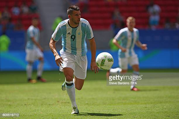 Jonathan Calleri of Argentina in action during the Men's First Round Group D match between Argentina and Honduras on Day 5 of the Rio 2016 Olympic...