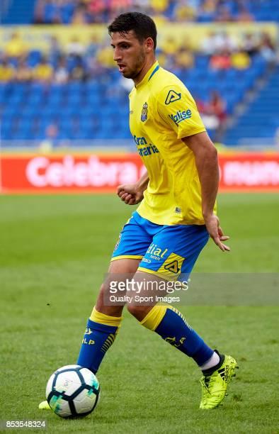 Jonathan Calleri of Las Palmas in action during the La Liga match between Las Palmas and Leganes at Estadio Gran Canaria on September 24 2017 in Las...
