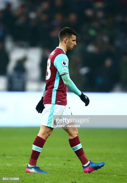 Jonathan Calleri of West Ham United shows dejection after the 22 draw in the Premier League match between West Ham United and West Bromwich Albion at...