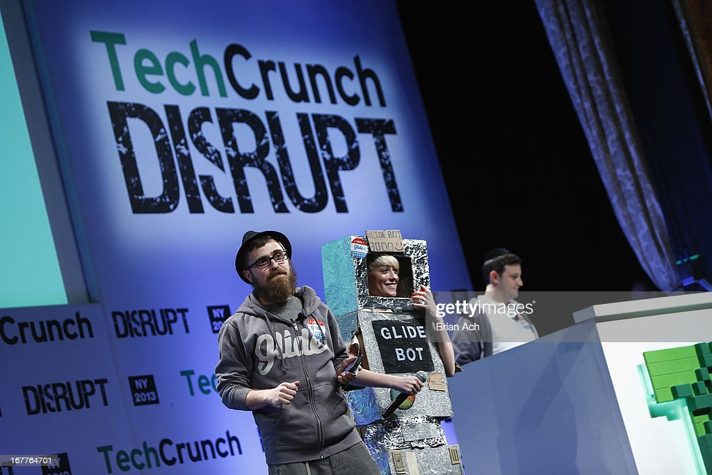 Jonathan Caras and Adam Korbl present Glide onstage at the TechCrunch Disrupt NY 2013 at The Manhattan Center on April 29, 2013 in New York City.