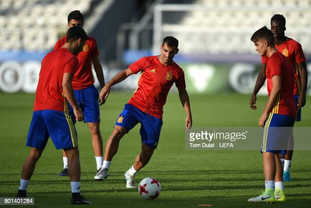 Jonathan Castro Otto of Spain during a training session on June 26 2017 in Krakow Poland