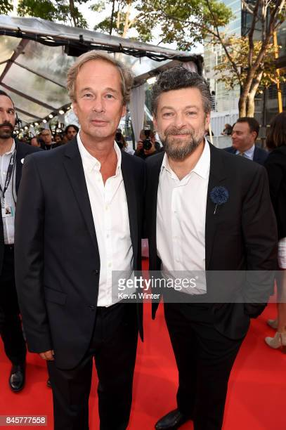 Jonathan Cavendish and Andy Serkis attend the 'Breathe' premiere during the 2017 Toronto International Film Festival at Roy Thomson Hall on September...