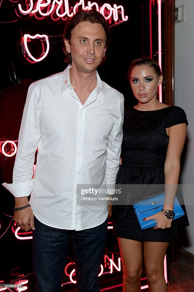 <a gi-track='captionPersonalityLinkClicked' href=/galleries/search?phrase=Jonathan+Cheban&family=editorial&specificpeople=538047 ng-click='$event.stopPropagation()'>Jonathan Cheban</a> and Anat Popovsky attend Dom Perignon with Alex Dellal, Stavros Niarchos, and Vito Schnabel Present Dom Perignon Limited Edition by Jeff Koons at Wall at W Hotel on December 5, 2013 in Miami Beach, Florida.