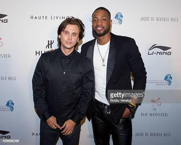 Jonathan Cheban and Dwyane Wade attends Haute Living and The Webster event hosted by Dwyane Wade and footwear desinger Alejandro Ingelmo during Art...