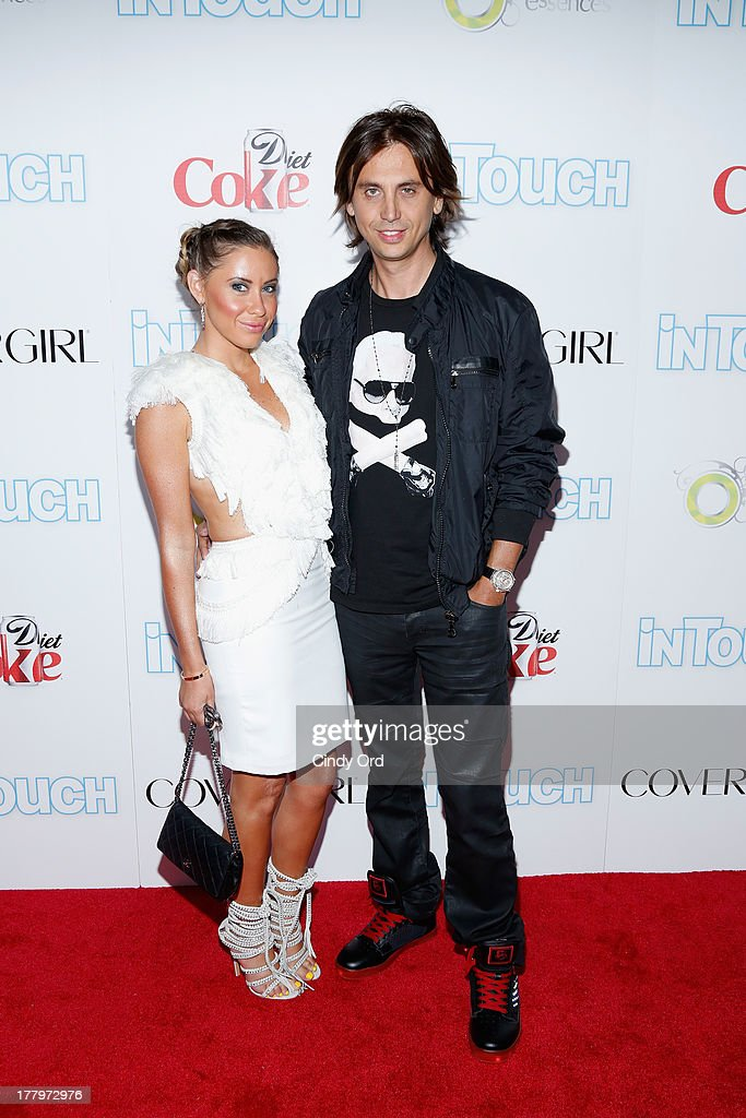 Jonathan Cheban and guest arrive at Intouch Weekly's 'ICONS & IDOLS Party' at FINALE Nightclub on August 25, 2013 in New York City.