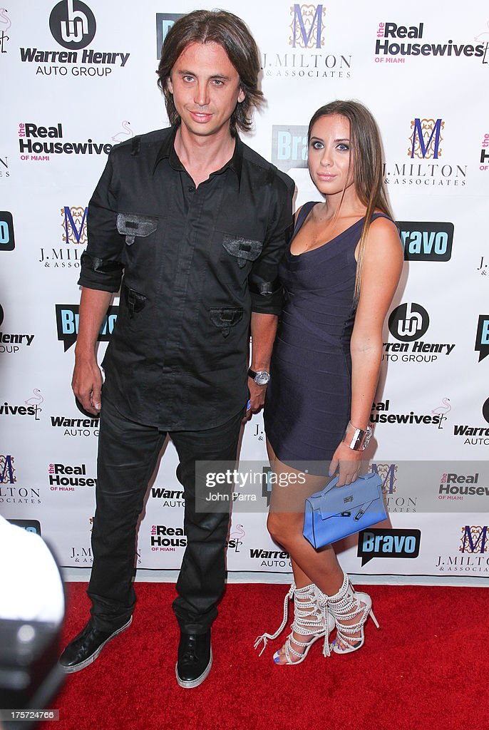 Jonathan Cheban and guest attend The Real Housewives of Miami Season 3 Premiere Party on August 6, 2013 in Miami, Florida.