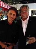 Jonathan Cheban and Mickey Arison pose circa March 2014 in Miami Florida