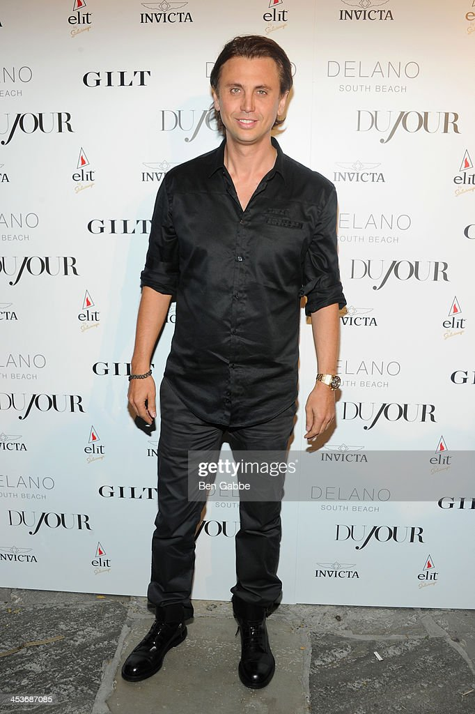 <a gi-track='captionPersonalityLinkClicked' href=/galleries/search?phrase=Jonathan+Cheban&family=editorial&specificpeople=538047 ng-click='$event.stopPropagation()'>Jonathan Cheban</a> attends DuJour Magazine's event to honor artist Marc Quinn at Delano South Beach Club on December 4, 2013 in Miami Beach, Florida.