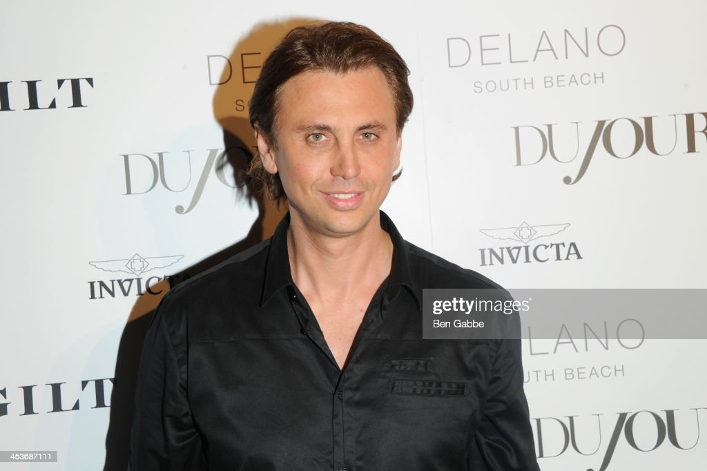 Jonathan Cheban attends DuJour Magazine's event to honor artist Marc Quinn at Delano South Beach Club on December 4, 2013 in Miami Beach, Florida.