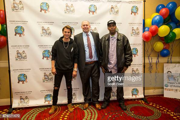 Jonathan Cheban left with Dennis Vanasse author cofounder and vice president of The Foundation for Autism Acceptance Worldwide and Parish Smith at...