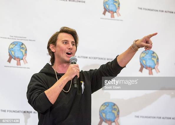 Jonathan Cheban speaks to a crowd at The Foundation for Autism Acceptance Worldwide's annual fundraiser on December 11 2016 in Groton Connecticut