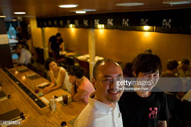 Jonathan Cho and Seung 'Jay' Park coowners of Sakuramen Ramen Bar inside their restaurant in Adams Morgan on Tuesday July 5th 2012