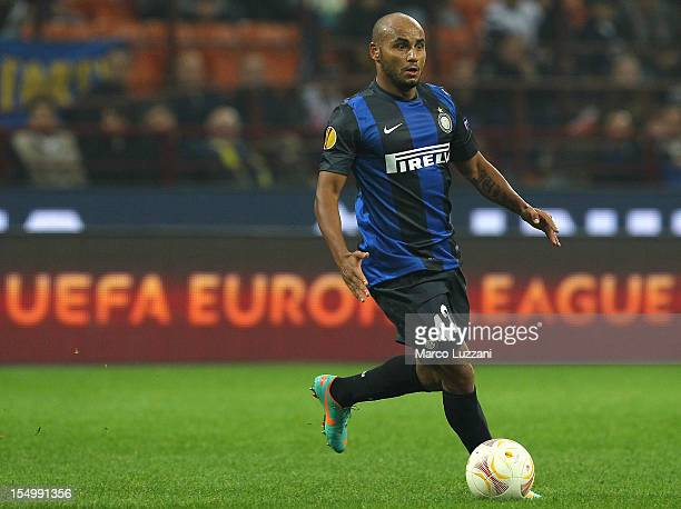 Jonathan Cicero Moreira of FC Internazionale Milano in action during the UEFA Europa League group H match between FC Internazionale Milano and FK...