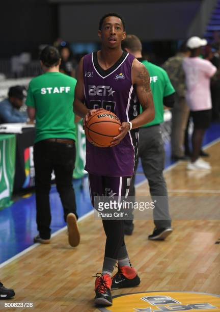 Jonathan Clark at the Celebrity Basketball Game presented by Sprite and State Farm during the 2017 BET Experience at Los Angeles Convention Center on...