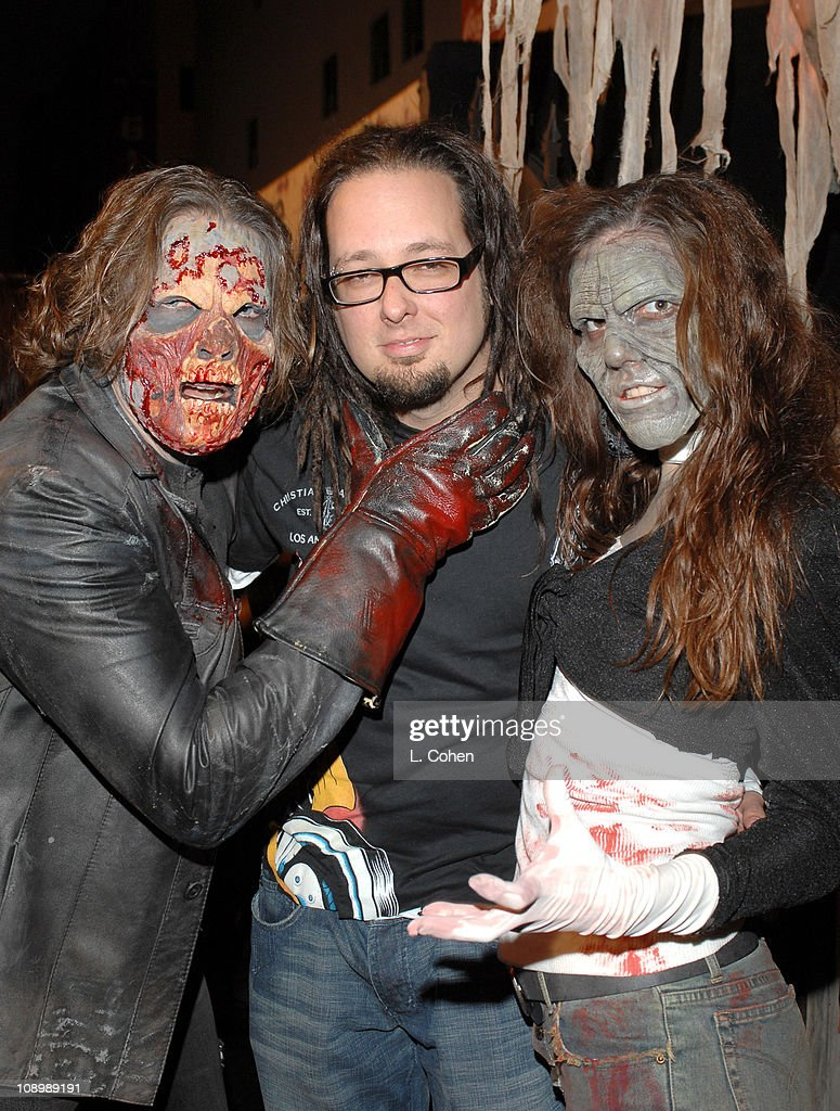 Jonathan Davis of Korn and guests during Fuse Fangoria Chainsaw Awards Black Carpet at Orpheum Theatre in Los Angeles California United States