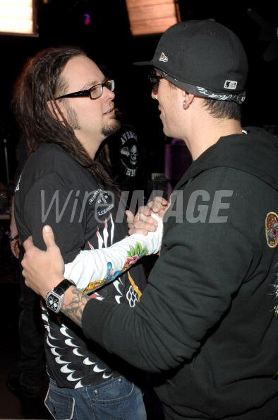 Jonathan Davis of Korn and M Shadows of Avenged Sevenfold