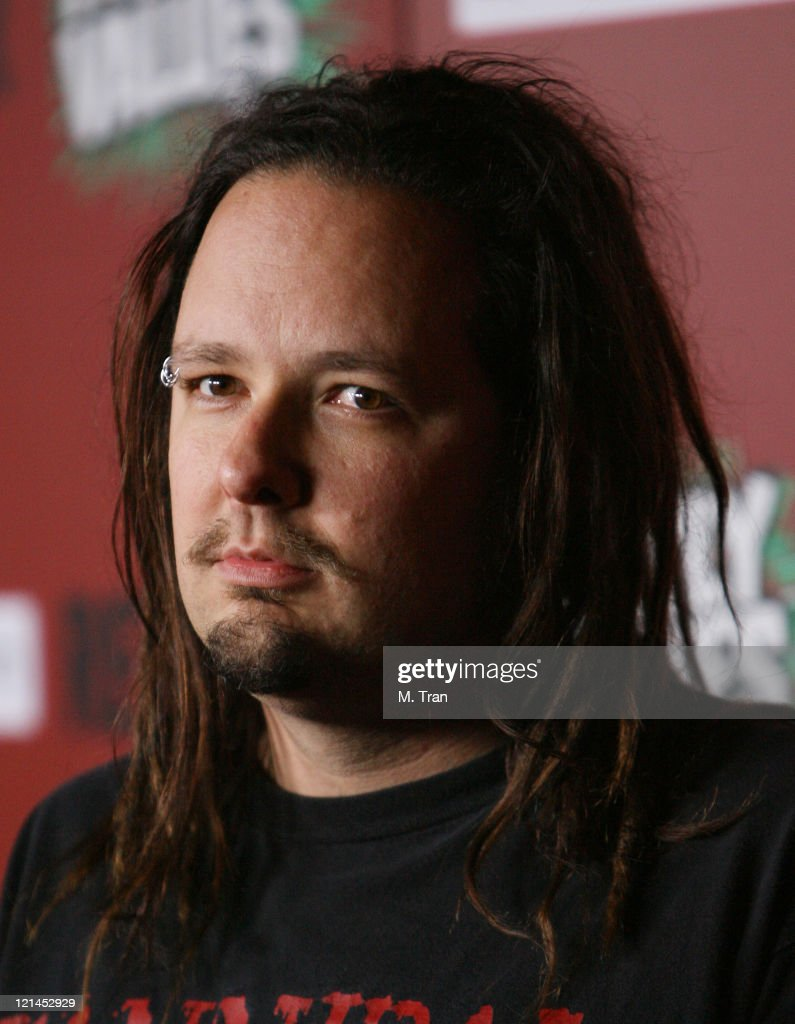 Jonathan Davis of Korn during Family Values Launch Tour with Halloween In Spring Costume Ball at Hollywood Forever Cemetery in Hollywood California...