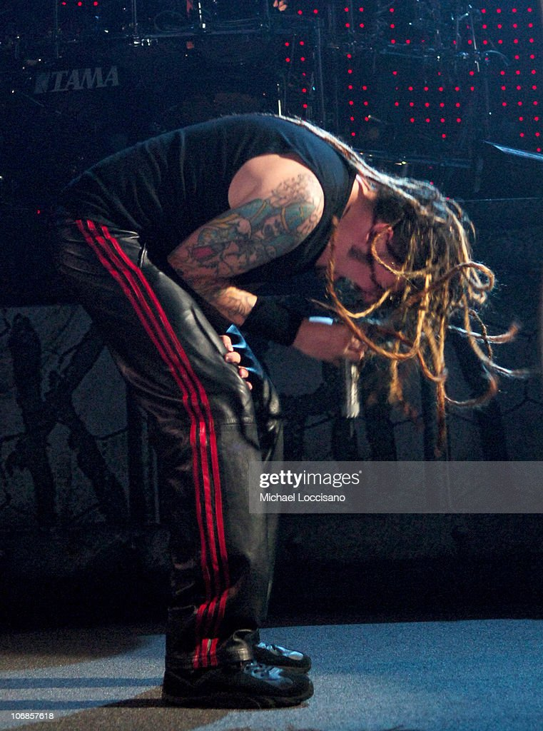 Jonathan Davis of Korn during Korn 'See The Other Side' Concert at the Hammerstein Ballroom in New York City November 29 2005 at Hammerstein Ballroom...