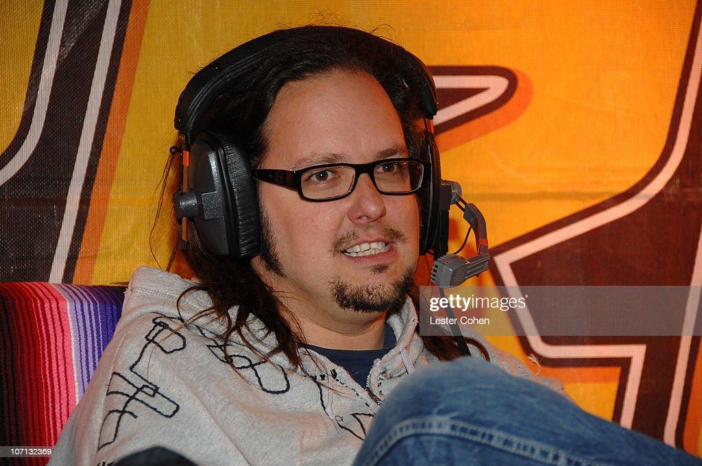 Jonathan Davis of Korn during KROQ Weenie Roast Y Fiesta 2007 Backstage at Verizon Amphitheater in Irvine California United States
