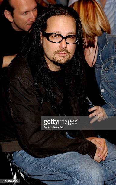Jonathan Davis of Korn during Smashbox LA Fashion Week Spring 2004 Jaime Pressly Front Row at Smashbox Studios in Culver City California United States