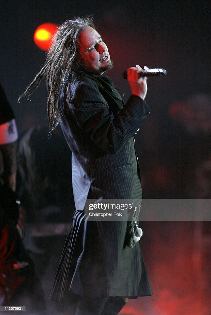 Jonathan Davis of Korn during Spike TV's 'Scream Awards 2006' Show at Pantages Theater in Hollywood California United States